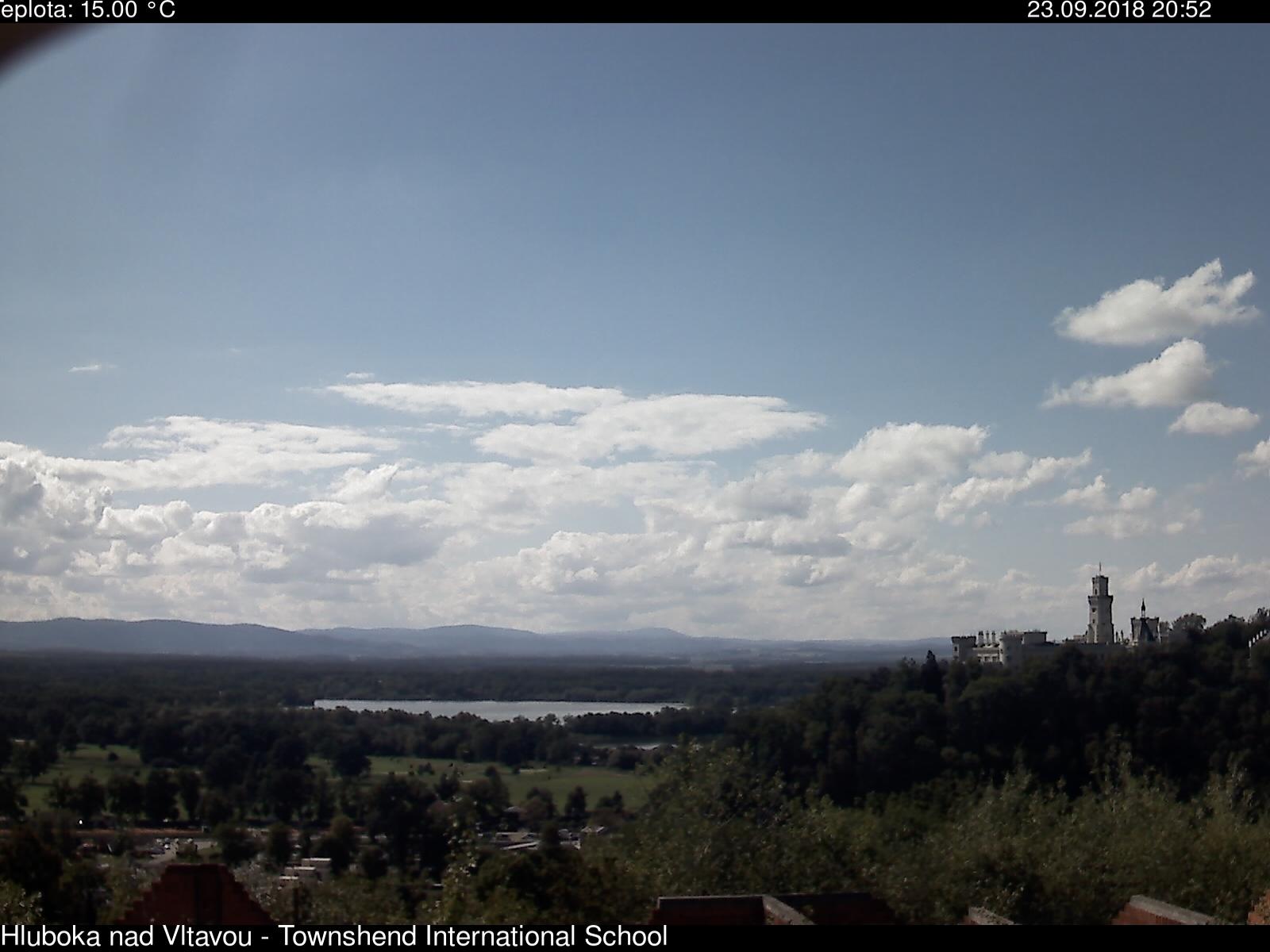 webkamera Hluboká nad Vltavou, Jihočeský kraj