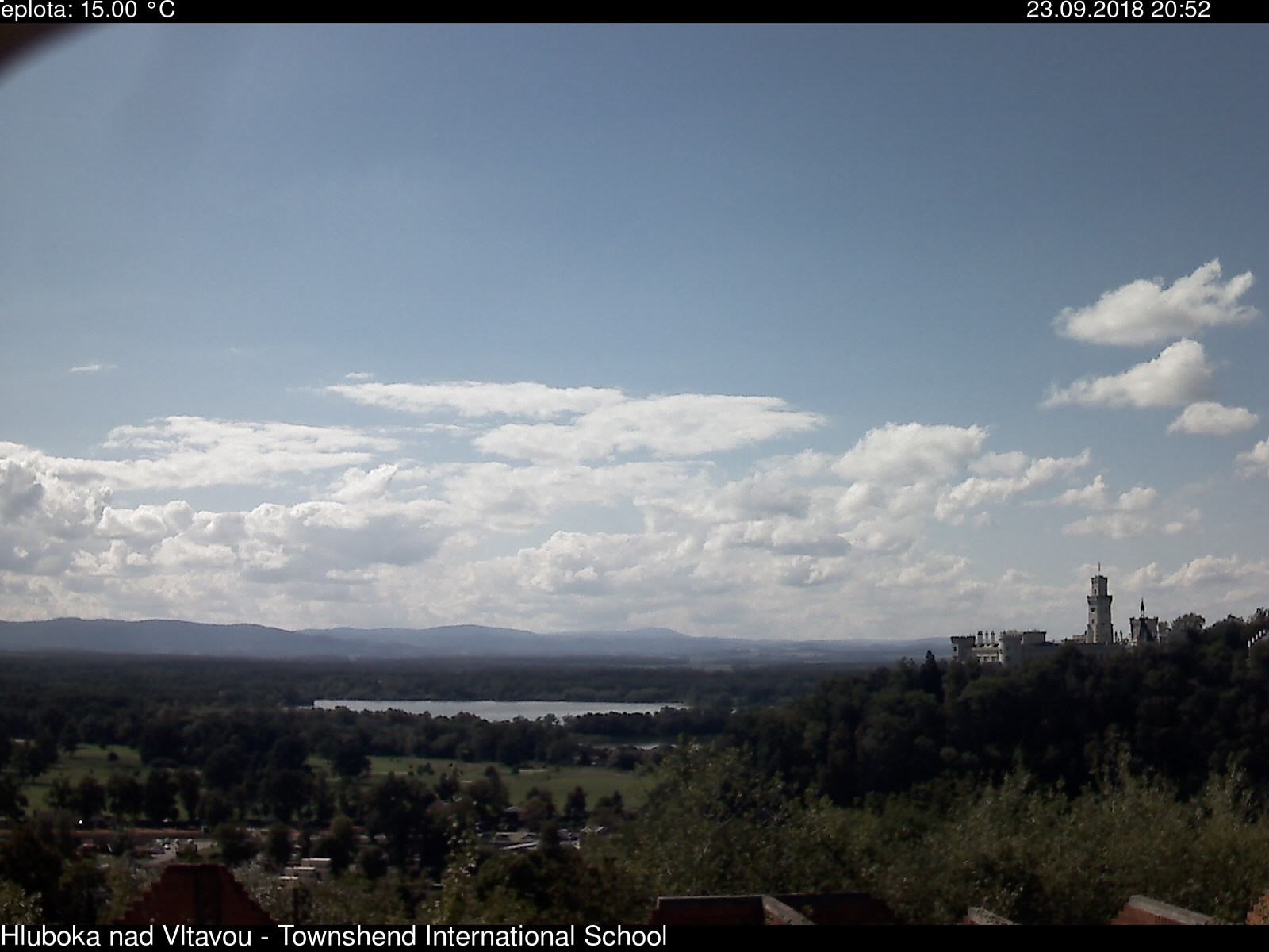 Webkamera Hluboká nad Vltavou